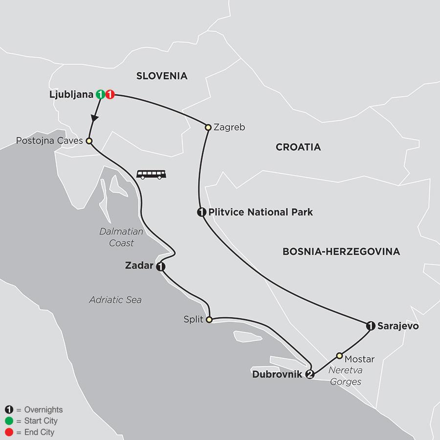 Scenic Slovenia & Croatia
