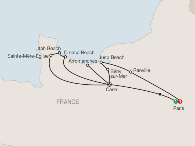 WWII, D-Day Landing Beaches & Battle Of Normandy