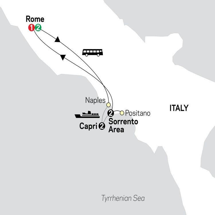 Gourmet Rome, Sorrento & Capri