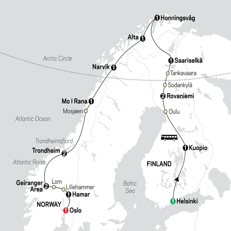 Northern Highlights & the Arctic Circle