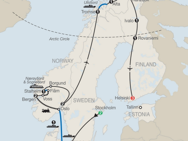 The Grand Scandinavian Circle Tour