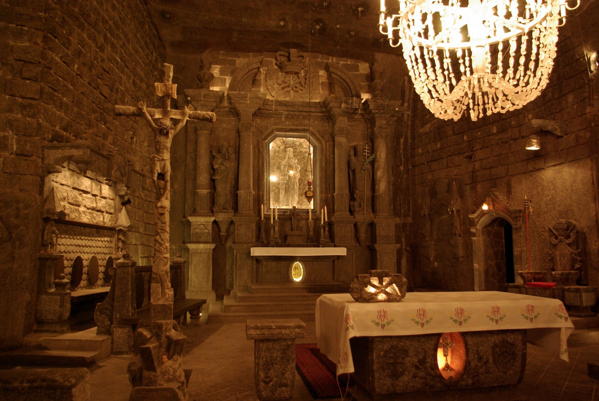 The Magic of Poland - Wieliczka Salt Mine, Chapel, Poland