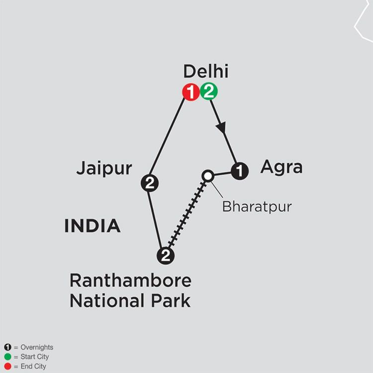 India's Golden Triangle & The Tigers of Ranthambore