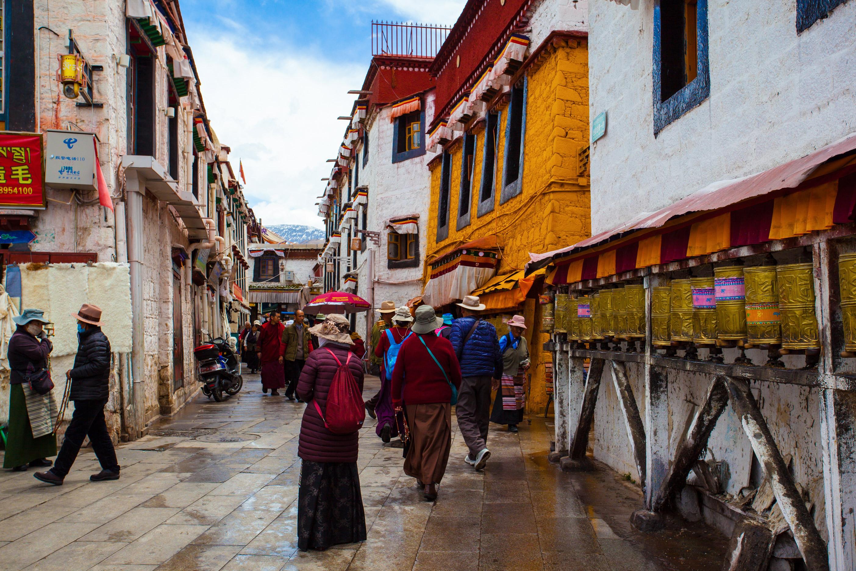 Himalayas of Tibet - Barker Street, Lhasa, Tibet