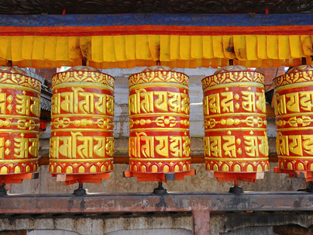 Simply Lhasa - Buddhist Prayer Wheels, Tibet