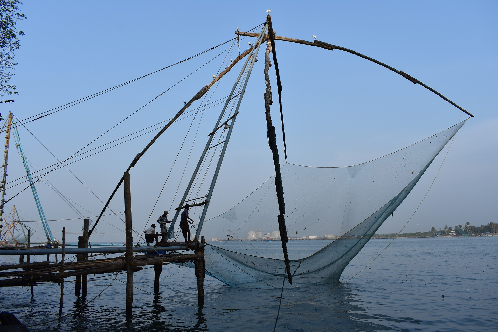 Southern India Odyssey - Kochi Chinese fishing nets, India