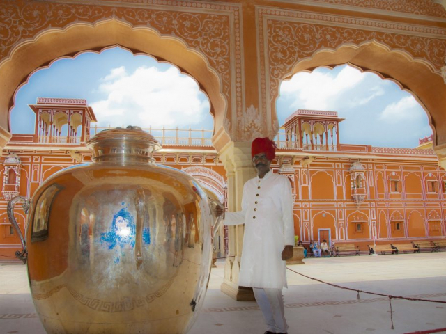 Icons & Hidden Treasures of Northern India - Silver Vessel in City Palace, Jaipur, India