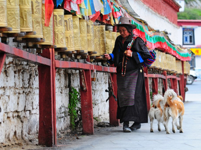 Himalayas of Tibet - Prayer Wheels, Lhasa, Tibet