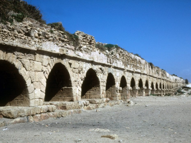 Classic Israel - Roman Aqueduct, Caesarea, Israel