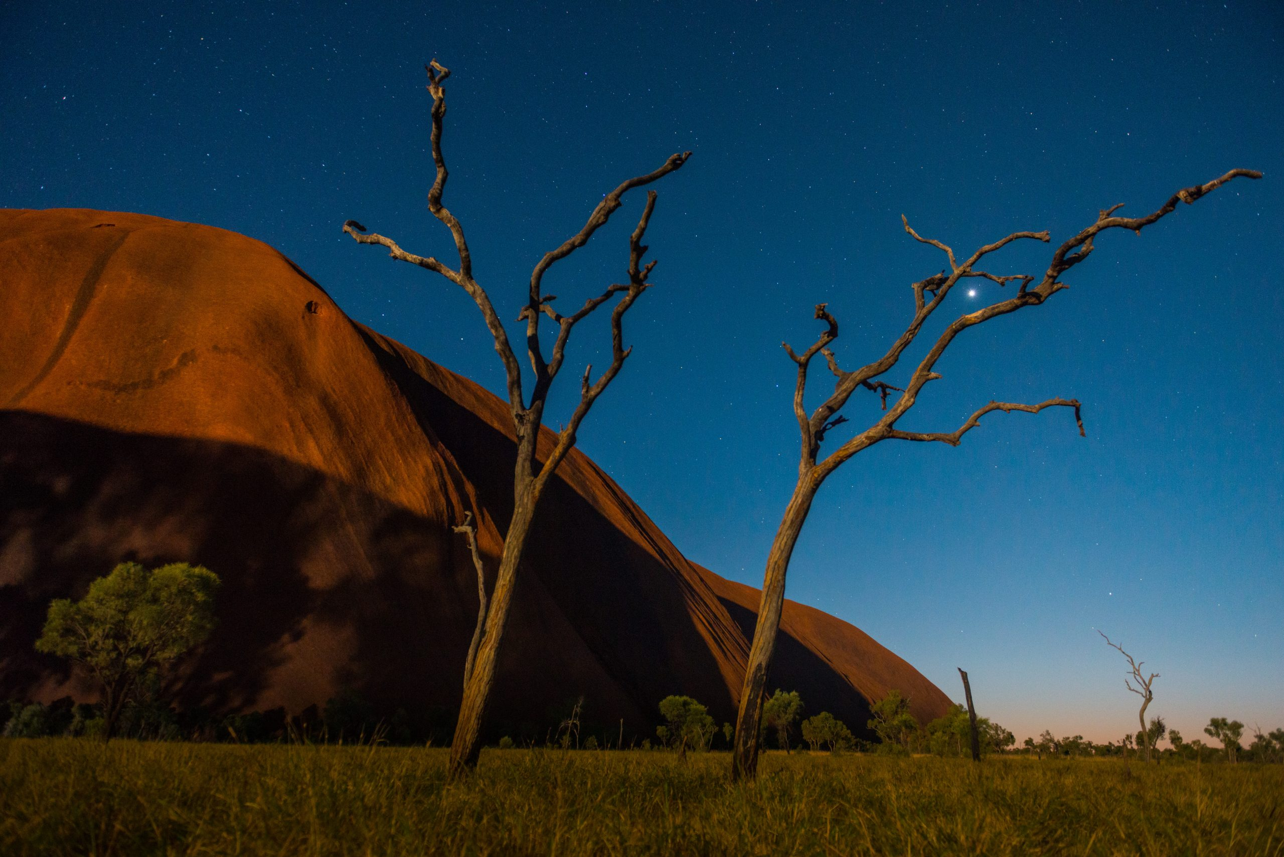 Uluru & Kata Tjuta Cultural Adventure | Uluru in the moonlight, Northern Territory