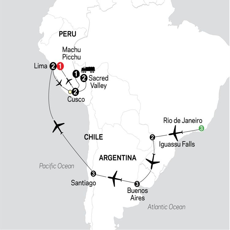 Brazil, Argentina & Chile Unveiled with Peru