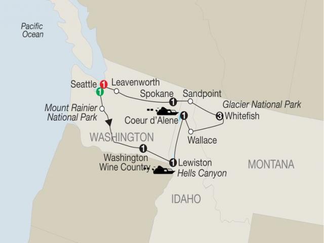 Discover Glacier National Park, Hells Canyon & Washington Wine Country
