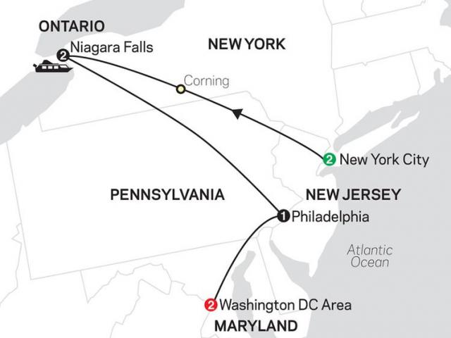 New York, Niagara Falls & Washington DC