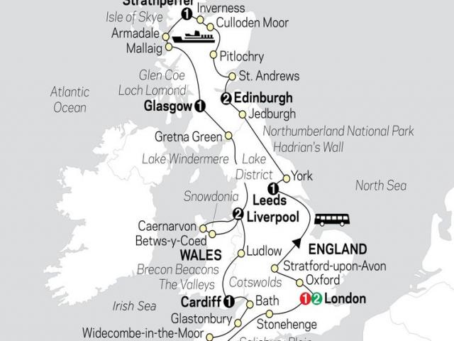 England, Scotland & Wales
